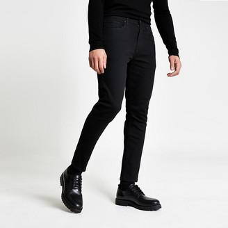 River Island Black wash Jimmy tapered leg jeans