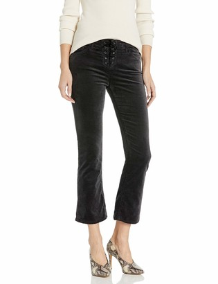 AG Jeans Women's Jodi Crop Velvet Lace Up Pants