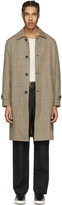 Our Legacy Beige Houndstooth Classic Car Coat