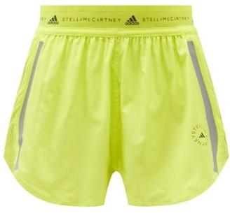 adidas by Stella McCartney Truepace Mesh-insert Recycled Fibre-blend Shorts - Yellow