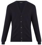 Ermenegildo Zegna Zigzag-knit wool and cashmere blend cardigan
