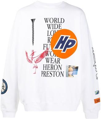 Heron Preston Oversized Graphic Print Sweatshirt