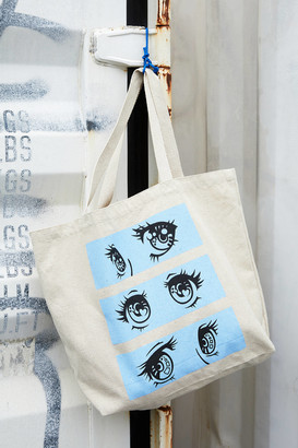 Urban Outfitters Anime Eyes Graphic Tote Bag