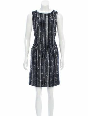 Oscar de la Renta 2017 Woven Sheath Dress Black