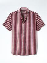 Banana Republic Camden-Fit Custom Wash Check Short-Sleeve Shirt