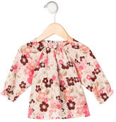 Bonpoint Girls' Floral Print Long Sleeve Top