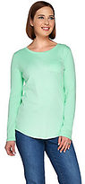 Denim & Co. As Is Essentials Long Sleeve T-shirt with Pocket