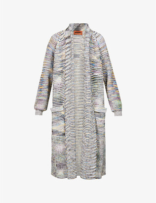 Missoni Abstract-pattern cashmere- and wool-blend coat