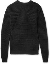 Rick Owens - Biker Level Open-knit Cotton Sweater