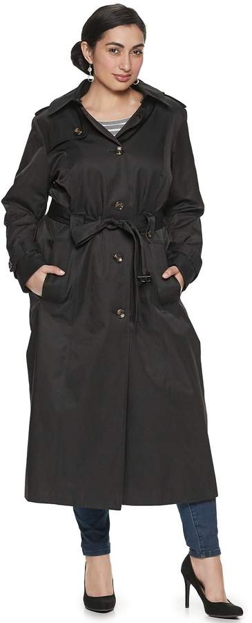 Tower By Plus Size TOWER by Long Trench Coat