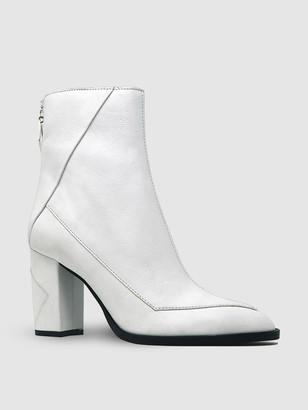 Sylven ALMASI White Vegan Apple Leather Boot