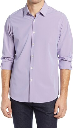MOVE Performance Apparel Regular Fit Houndstooth Button-Up Performance Shirt