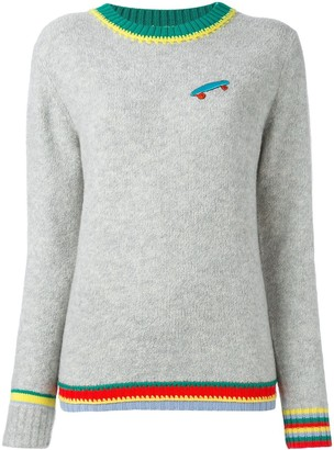 Mira Mikati Ç By skateboard patch jumper