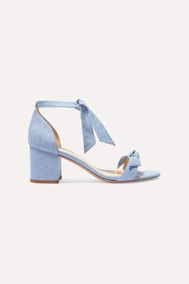 Alexandre Birman Clarita Bow-embellished Denim Sandals - Mid denim