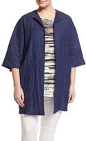 Marina Rinaldi Fervore Crinkled Long Jacket, Plus Size