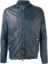 Giorgio Brato high neck leather jacket - men - Leather/Cotton - 48