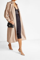 Burberry Silk Bishop Sleeved Trench