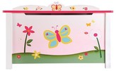 The Well Appointed House Guidecraft Butterfly Theme Toy Box for Kids
