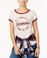 Freeze 24-7 Juniors' Taco Soulmate High-Low Graphic T-Shirt