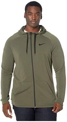 Nike Big Tall Dry Hoodie Full Zip Fleece (Cargo Khaki/Black) Men's Clothing