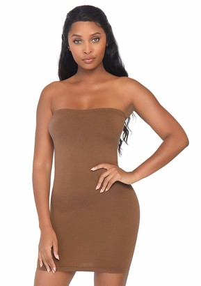 Leg Avenue Women's Lingerie Seamless Opaque Microfiber Bodycon Tube Dress