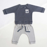 My 1st Years Boys Blue & Grey Top and Bottom Set