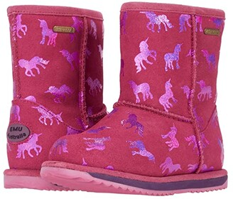 Emu Rainbow Unicorn Brumby (Toddler/Little Kid/Big Kid) (Deep Pink) Girl's Shoes