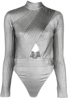 Tadashi Shoji Cut-Out Body Blouse