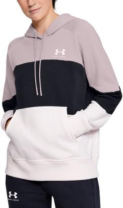 Under Armour Women's UA Rival Fleece Color Block Hoodie