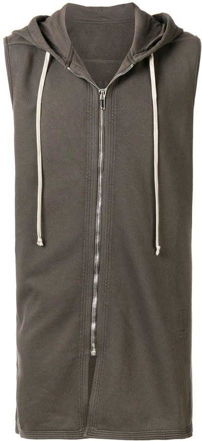 Rick Owens long sleeveless hoodie