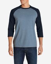 Eddie Bauer Men's Legend Wash 3/4-Sleeve Baseball T-Shirt