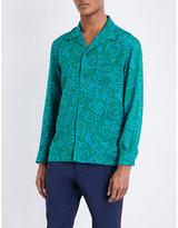 Bally Geometric-print Silk Shirt