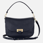 Aspinal of London Women's Letterbox Slouchy Saddle Bag Navy