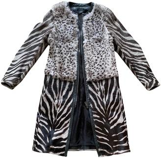 Joseph Khaki Rabbit Coat for Women