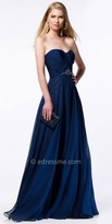 Alyce Paris Iridescent Chiffon Strapless Ruched Prom Dress