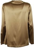 Brunello Cucinelli Metallic Shift Blouse