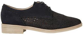 Easy Steps Nero Black Nubuck Flat Shoe
