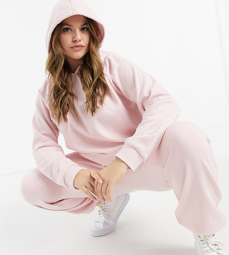 Wednesday's Girl Curve oversized hoodie with heart embroidered co-ord