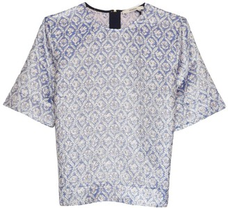 Odeeh Jacquard Top in Periwinkle Blue