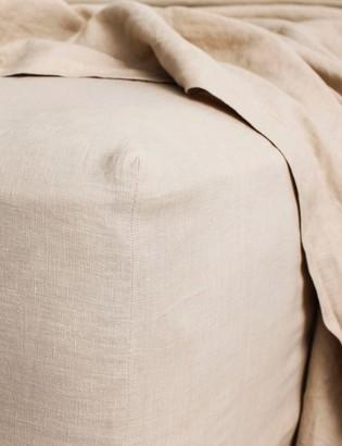 Lulu And GeorgiaLulu & Georgia Cultiver Linen Bedding, Nude Fitted Sheet