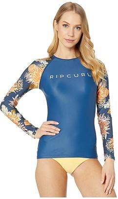 Rip Curl Sunsetter Relaxed Long Sleeve Rashguard (Navy) Women's Swimwear