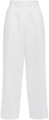 Forte Forte Cotton And Linen-blend Wide-leg Pants