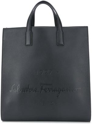 Salvatore Ferragamo Logo-Debossed Tote Bag