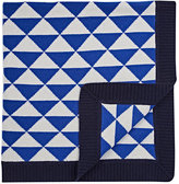 Barneys New York Triangle-Intarsia Cashmere Baby Blanket
