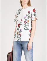 Sandro Floral-print cotton-jersey T-shirt