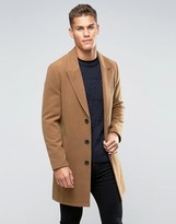 Asos Overcoat in Camel
