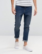 Cheap Monday Dropped Tapered Jeans Pure Blue