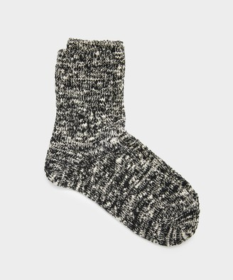 RoToTo Low Gauge Slub Socks in Black