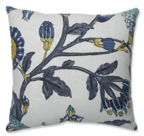 "Pillow Perfect Auretta Peacock 16.5"" Throw Pillow"