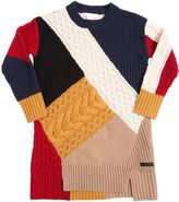 Burberry Color Block Knitted Cashmere Dress